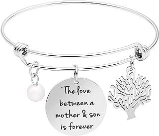 Awegift Inspirational Bangle Bracelet for Women Girls Stainless Steel Motivational Encourage Jewelry Birthday Mother's Day...