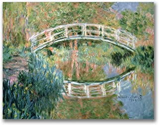 The Japanese Bridge, Giverny by Claude Monet, 35x47-Inch Canvas Wall Art