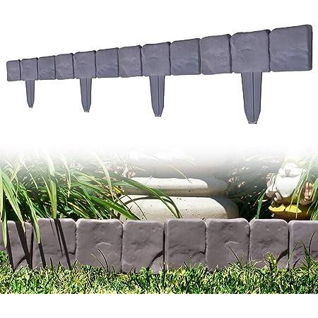 ユーラー 花壇フェンス ガーデンフェンス 10枚セット 園芸専用 根止め 雑草阻止 設置簡単 庭造りDIY 23cm×25cm