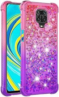 Molg Kompatibel med Xiaomi Redmi Note 8 Color Gradient Series Glitter Quicksand Anti-drop Soft TPU Bumper Silikon Shockpro...