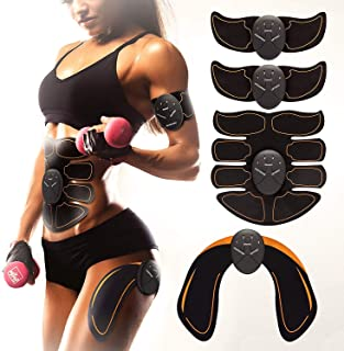 BON-SU Muscle Toner - Abdominal Toning Belt Fit for Body Arm - Abs Trainer Muscle Toner - Muscle Stimulator - Electrical M...