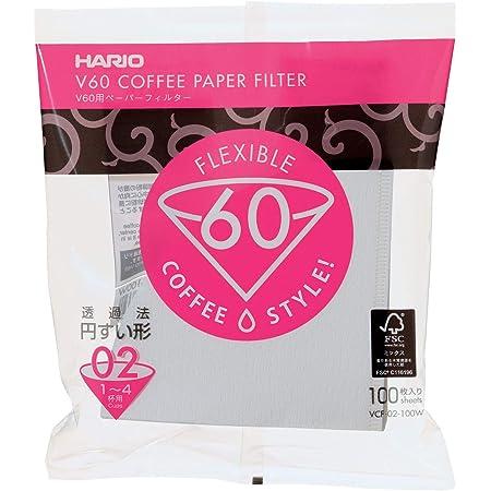 HARIO (ハリオ) V60用 ペーパーフィルター 02W 1~4杯用 100枚入り ホワイト VCF-02-100W