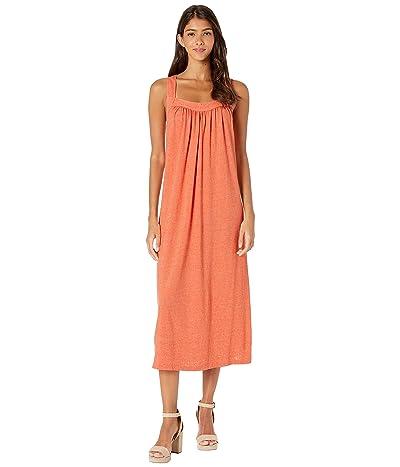 Michael Stars Palisades Jersey Margo Cross-Back Midi Dress (Sunkissed) Women