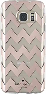 kate spade new york Hardshell Clear Case for Samsung Galaxy S7 - Chevron Rose Gold/Clear