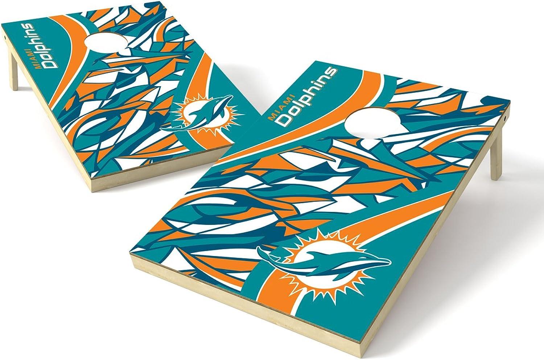 PROLINE 2'x3' NFL Cornhole Set  Millennial S Bend Design, NFL Miami Dolphins 2x3 Cornhole Board Set  Millennial S Bend, P3NC1161, Team color, 2' x 3'