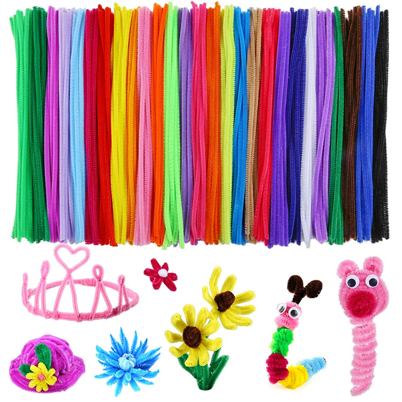 Caydo 324 Pieces Pipe Cleaners 27 Colors Chenille Stems for DIY Art Creative Crafts Decorations (6 mm x 12 Inch) eoermz735236