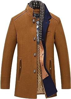 Mirecoo caldo cappotto invernale da uomo, corto, in lana, ideale per il lavoro.