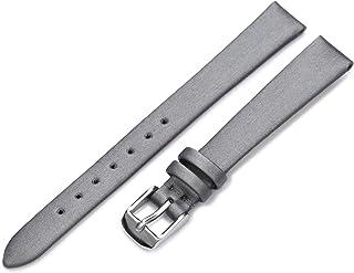 Hadley-Roma Women`s LSL978RA 120 12-mm Black Satin Grained Leather Watch Strap