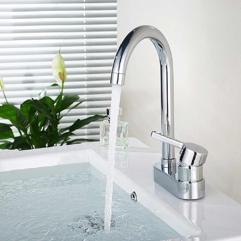 Gyps Faucet Waschtisch-Einhebelmischer Waschtischarmatur BadarmaturDas Kupfer kalt Wasser 2 - Loch Waschtisch Armatur KüCHENARMATUR schwenken,Mischbatterie Waschbecken