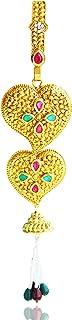 Aashya Mayro Rajasthani Rajwadi Antique kundan and meenakari CZ Diamond Golden Challa/Chabi Challa Waist Key Chain for Wom...