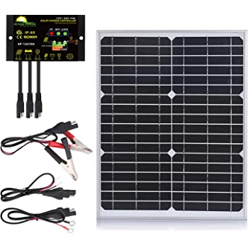 Amazon Com Thunderbolt Magnum 6 Piece Solar Panel Power Connection Cable Kit Including Battery Clamps Led Charge Indicator 12 Volt Adapters Chargers Connectors Home Improvement