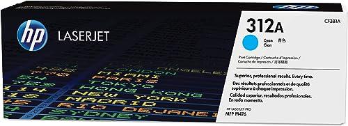 HP 312A Toner Cyan LaserJet Authentique (CF381A), pour imprimantes HP Color LaserJet Pro MFP M476dn/M476dw/M476nw