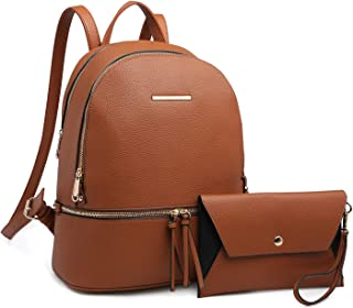 MKP Collection Womens Backpack Purse Simple Design Casual Daypack Fashion School Shoulder Bag for Girls