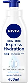NIVEA Express Hydration Body Lotion, Sea Minerals, Normal & Dry Skin, 400ml