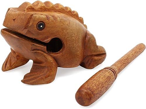 Aussel Guiro rana que croa de madera con martillo, Instrumento musical de sonido bloque, Feria de Instrumentos de per...