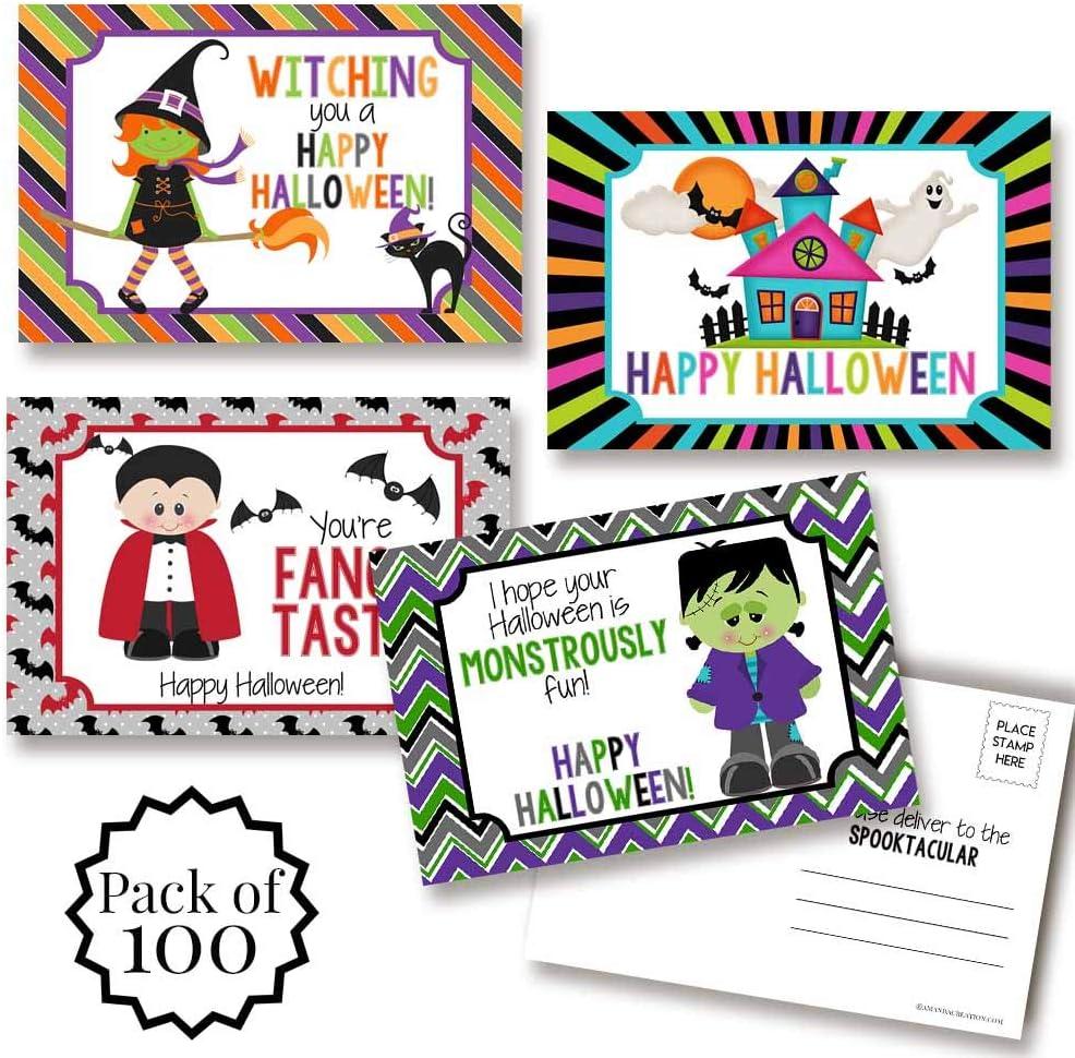 Cute Halloween Themed Blank Postcards Regular Max 70% OFF discount To Fil Kids 4