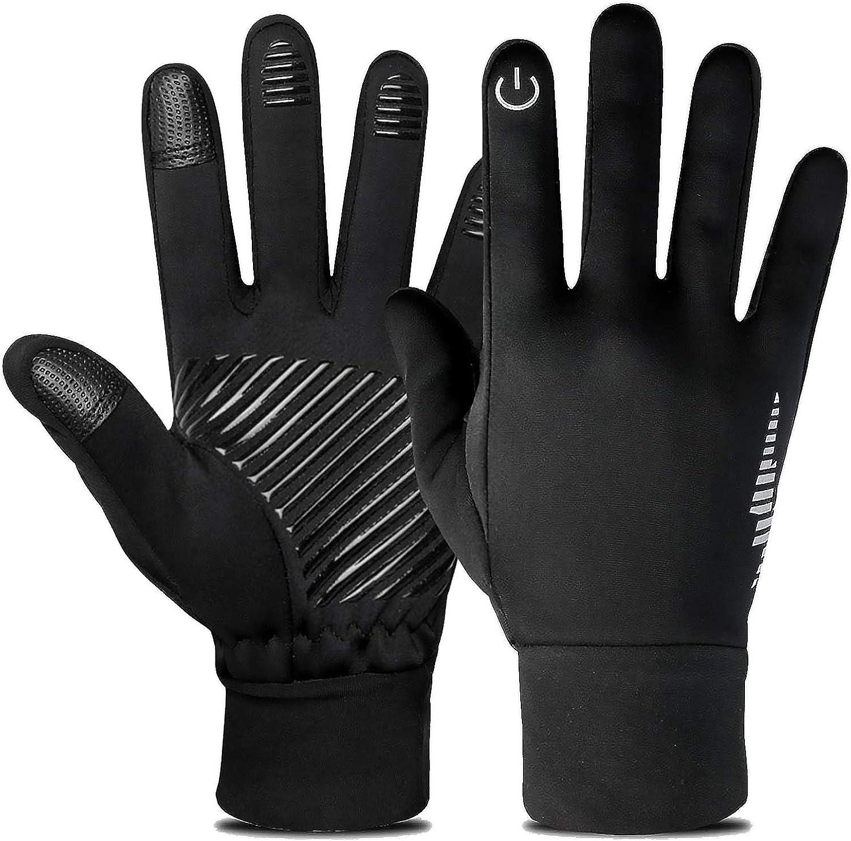 Winter Gloves Warm Windproof Touchscreen Running Workout Riding for Men Women