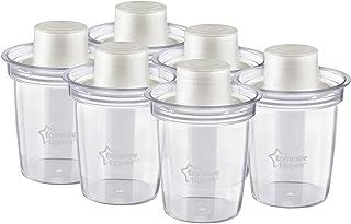 طقم 6 وعاء لحفظ الحليب المجفف من تومي تيبي TT43136271 -  ابيض