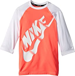 Nike Kids - Logo Half Sleeve Hydroguard (Big Kids)