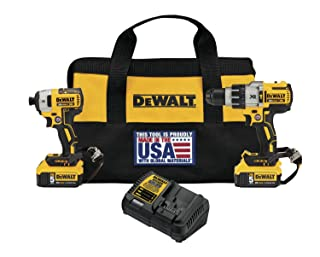 DEWALT DCK299P2LR 20V Max XR Hammerdrill/Impact Driver Combo Kit with Lanyard Ready Attachment Points