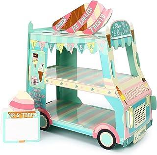 Kitchnexus - Soporte de 3 Niveles para Cupcakes, Helado, diseño de Calle, para decoración de Fiestas