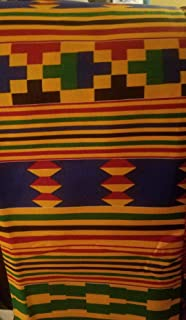 African Kente Fabric Fabric #6- One Yard Cotton 44