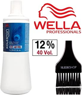 Wella KOLESTON WELLOXON PERFECT Cream Developer (with Sleek Tint Brush) (40 Volume / 12% - 33.8 oz liter)