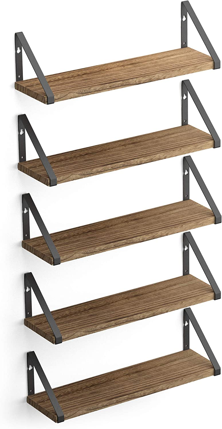 Wallniture Ponza Wood Dallas Mall Floating Shelves Natural for Storage Wall In a popularity
