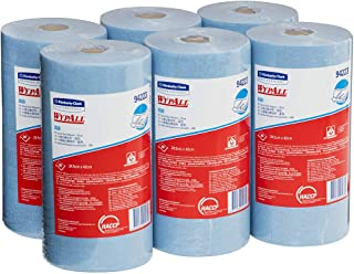 WypAll 94223 WypAll X60 Small Roll Wipers, Blue, 80 Wipers/Roll, Case of 6 Rolls, Blue 3.600 kilograms
