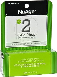 NuAge, No 2 Calc Phos, Calcium Phosphate, 125 Tablets