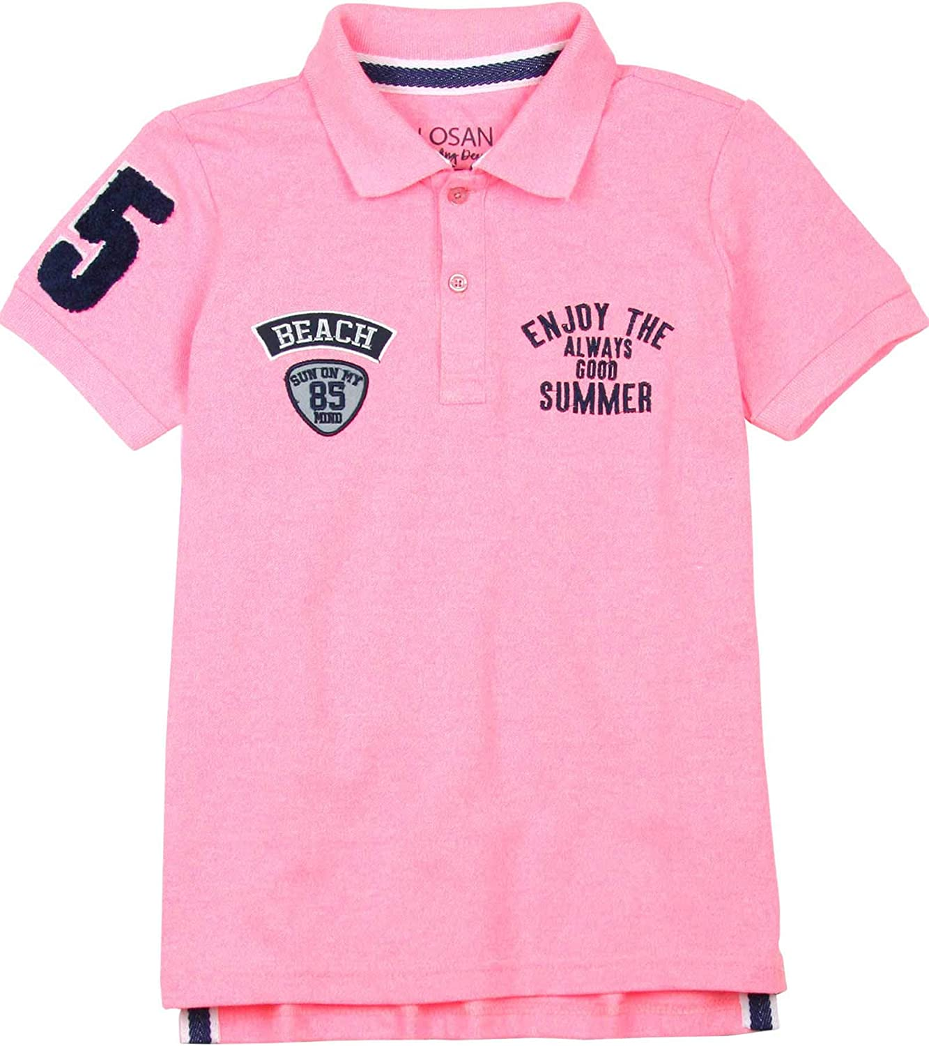 Losan Boys Polo Shirt with Patches, Sizes 8-16