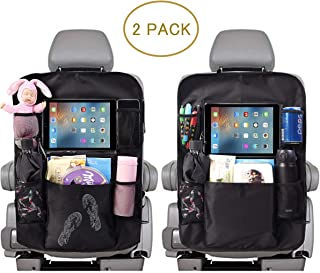 ComboCube Car Backseat Organizer For Kids Kick Mats 2 Pack,Car Seat Back Protectors with Touch-Screen Clear 10