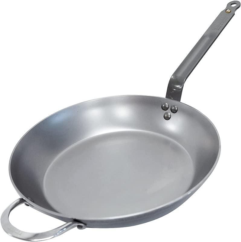 De Buyer MINERAL B Round Carbon Steel Fry Pan 12 5 Inch 5610 32