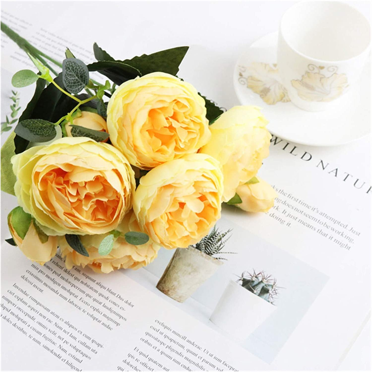 zhenxin Artificial Flowers 1 Bundle Roses Max 88% Courier shipping free shipping OFF Home Deco Silk