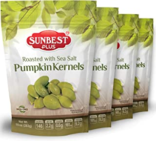 Sponsored Ad - SUNBEST Plus Pumpkin Kernels Roasted with Sea Salt (8 Ounce) Pack of 4