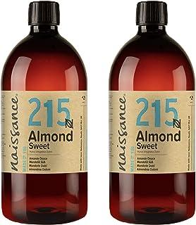 Naissance natürliches Mandelöl süß Nr. 215 2 x 1 Liter - Vegan, gentechnikfrei - Ideal zur Haar- und Körperpflege, für Aromatherapie und als Basisöl für Massageöle