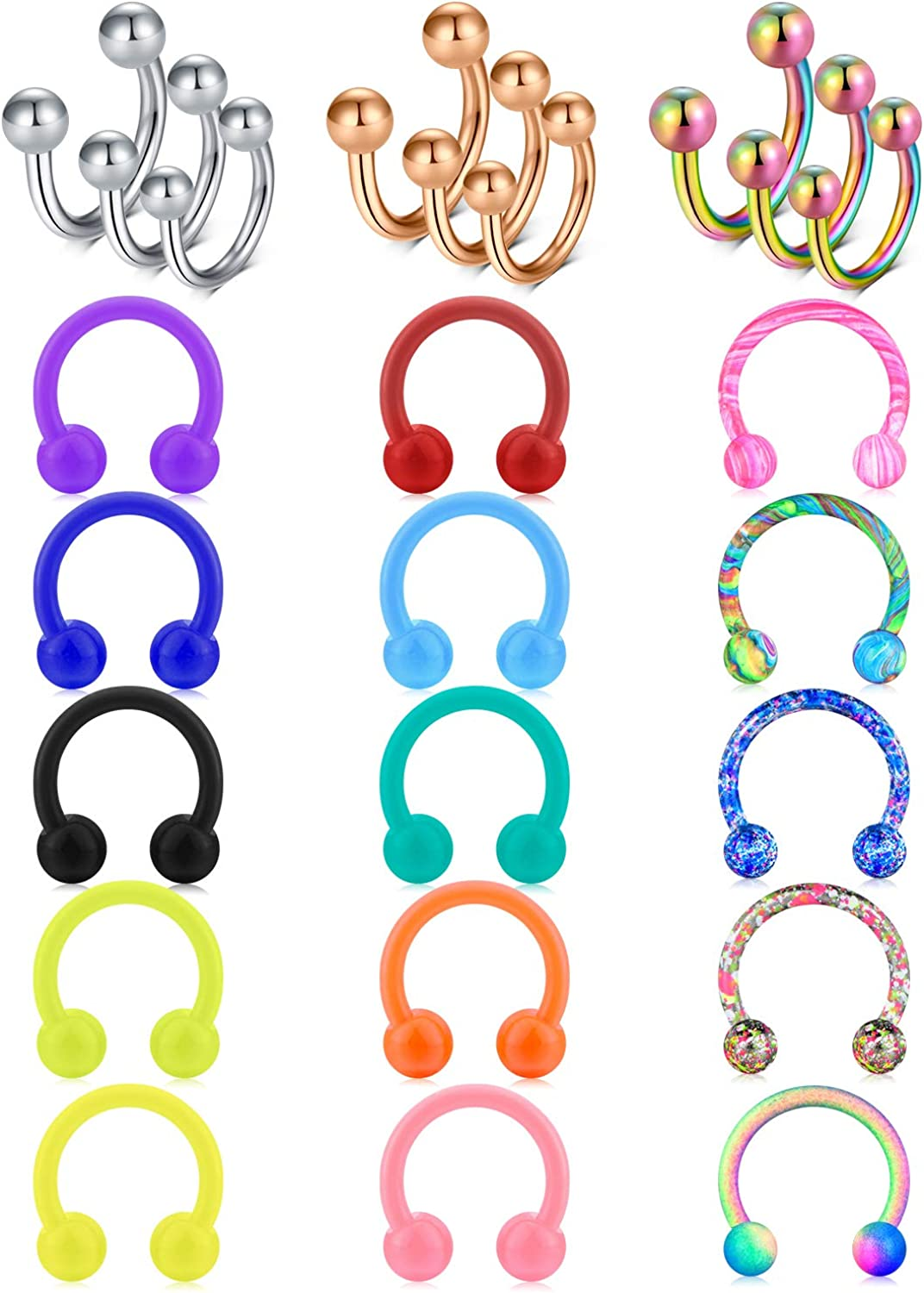 Zolure 16G Septum Our shop Award most popular Rings Piercing Steel Stainless Hoesesh Jewelry