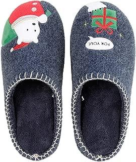 Fascigirl Women Slippers Christmas Slippers Cartoon Non Slip Warm Slippers Indoor Slippers for Winter