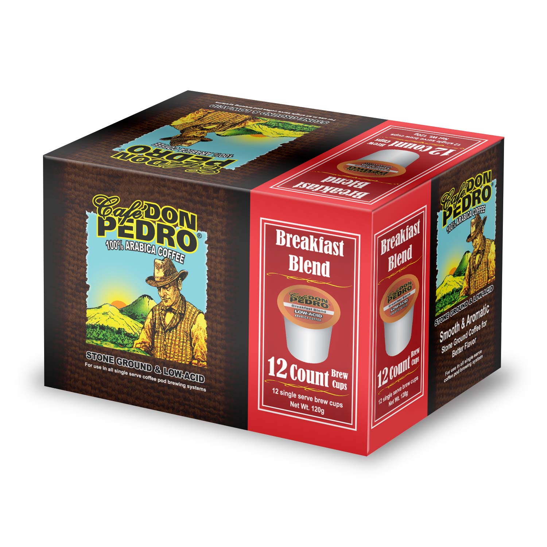 Cafe Don Pedro Under blast sales Direct sale of manufacturer - Breakfast Blend Ct. Low Acid 72 Coffee Arabica