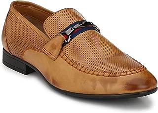 Big Fox Men's Designer Buckle Hand Stiched Loafers