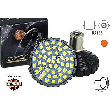 1156 Base 2 Bullet Style Ambra Lampadina LED con w//2835 Chips Tutto-in-Uno Kit Luce Moto Posteriore MZS Indicatori di Direzione per Harley Davidson