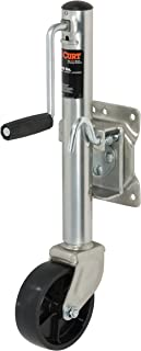 CURT 28112 Marine Boat Trailer Jack with 6-Inch Wheel 1,200 lbs, 11 Inches Vertical Travel