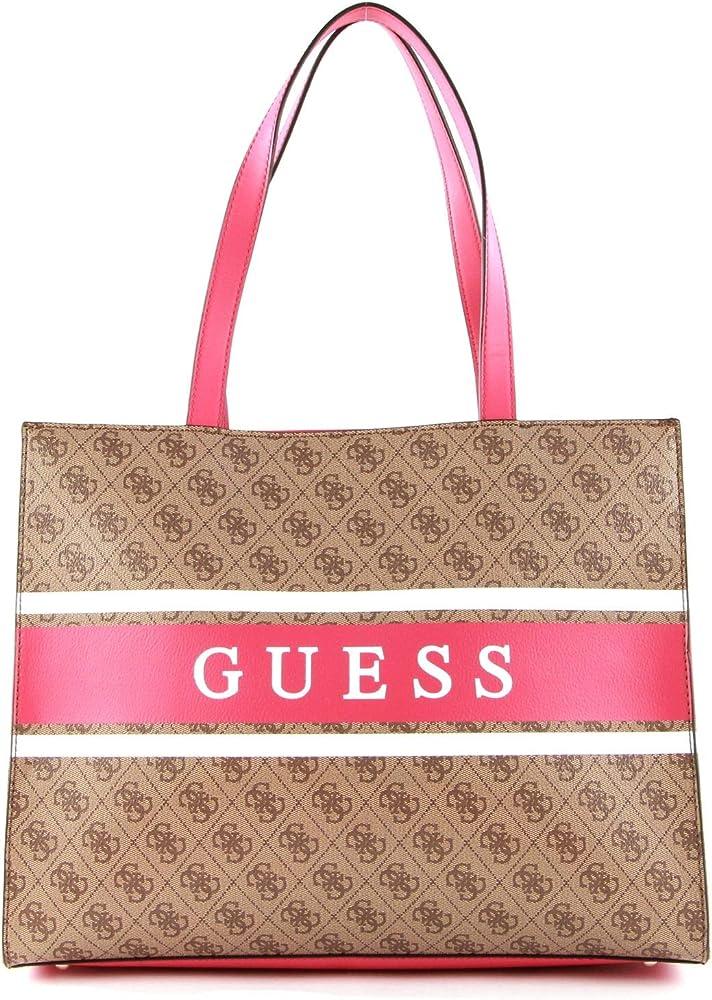 Guess, borsa shopper monique,  tote per donna, in ecopelle