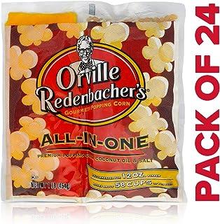 Orville Redenbacher's All in One Coconut Oil Popcorn Kit, 16 Ounce Portion Packs (Pack of 24)