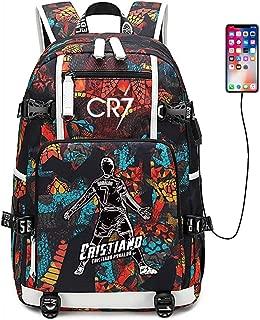Soccer Player Star Cristiano Ronaldo Multifunction Backpack CR7 Travel Student Football Fans Bookbag For Men Women