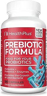 Health Plus Prebiotic Formula - Probiotics + Prebiotics + Digestive Enzymes - Gluten Free, Dairy Free, Natural Herbal Ingr...