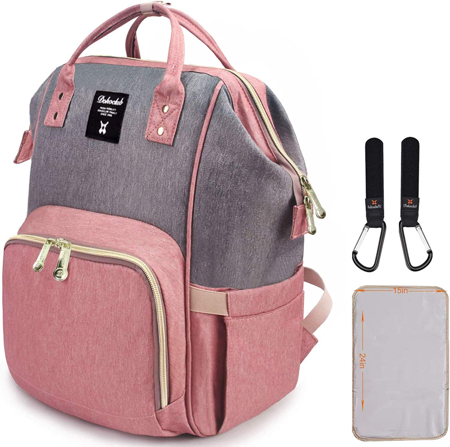 Diaper Bag Backpack, Waterproof Large Capacity Stylish and Durable Baby Bags …