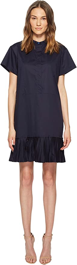 Paul Smith Stretch Cotton Dress w/ Bib Detail