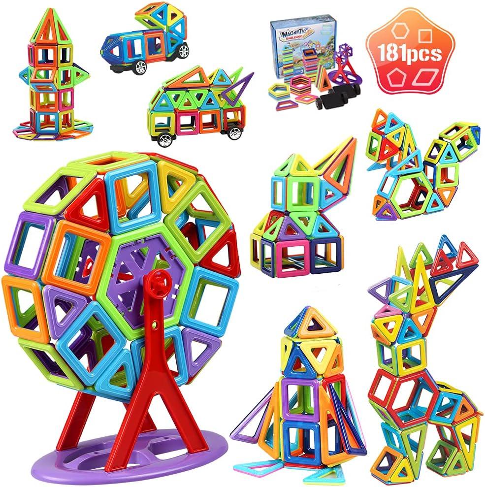 Magnetic Building Blocks Challenge the lowest price 181Pcs Set Tiles Low price Magnet