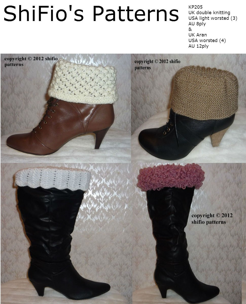 Knitting Patterns Boot Toppers - 1000 Free Patterns